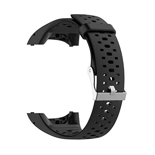 per polar m400/m430gps smart watch, unisex adulto regolabile morbido silicone sostituzione cinturino orologio da polso accessorio per polar m400/m430, nero, taglia libera