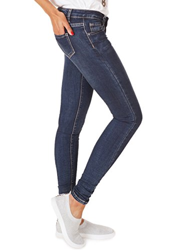 62nd Avenue Damen Super Skinny Jeans Used Dunkelblau 6218 Dunkelblau