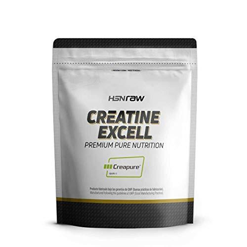 Creatina Excell 100% Creapure de HSN Raw, Monohidrato de Creatina Micronizada, Suplemento...