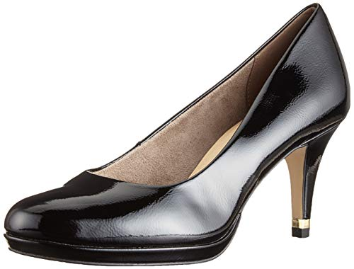 Tamaris Damen 1-1-22444-22 Pumps, Schwarz (Black Patent 18), 39 EU 1 Black Patent Schuhe