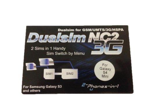 Entrambi i Telefoni 2in 12in1nc2s4m NC2Dual SIM Adattatore per Samsung Galaxy S4Mini