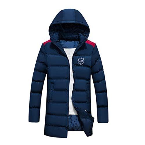 Luckycat Herren Winter Warm Kapuzen Zipper Dicker Fleece Mantel Baumwolle gefütterte Jacke Mode 2018