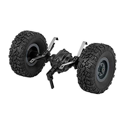 Goolsky JJR/C Hinterachse Brücke Achse Welle mit Reifen Rad für Q61 1/16 RC Offroad Crawler Militär LKW Armee Auto