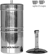 Kitchen Mart Stainless Steel Coffee Filter Size:6 (200ml) (2 cups)