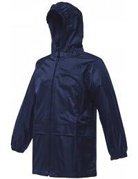 Regatta Kids Stormbreak Lightweight and Waterproof Rain Jacket Black, Navy