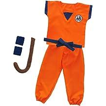 Los niños traje de ropa de entrenamiento de Dragon Ball Goku Cosplay traje chándal Carnaval