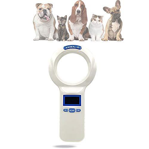 QHLJX Chiplesegerät für Tiere, RFID 134.2Khz ISO FDX-B Animal ID Mikrochip Reader, Handheld-Tier-Scanner, OLED-Anzeige, Kann Tausende Von Daten Speichern, Geeignet FüR Die Tieridentifikation