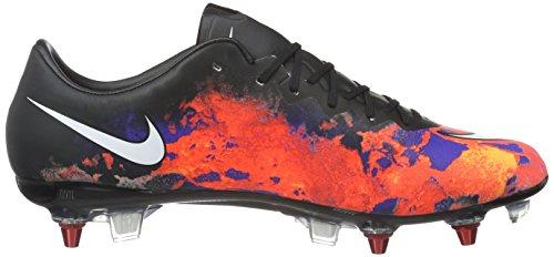 Nike Mercurial Vapor X Cr Sg-Pro, Chaussures de Football Homme Noir / Blanc / Rouge / Argent (Blk / White-Ttl Crmsn-Mtllc SLVR)