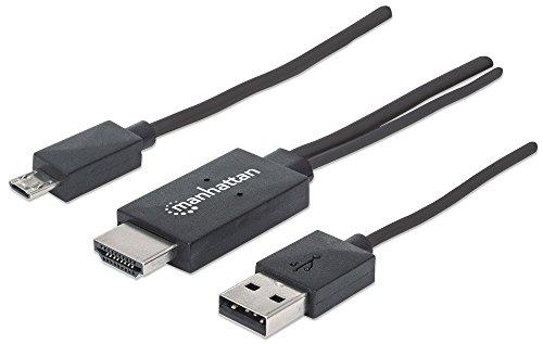 Manhattan MHL-Anschlusskabel HDMI auf Micro USB, 11-polig (Micro USB 11-pol. auf HDMI, Stromversorgung über USB Typ A) schwarz 151511 Preis