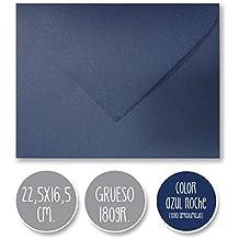sobre boda 180gr CALIDAD EXTRA clásico liso azul noche 22,5X16,5cm. … (22,5x16,5cm)