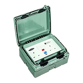 Timeguard WXT205N 'Weatherproof Extreme' RCD Socket IP66 Non-Latching / Active 30mA - 2 Gang 13 Amp