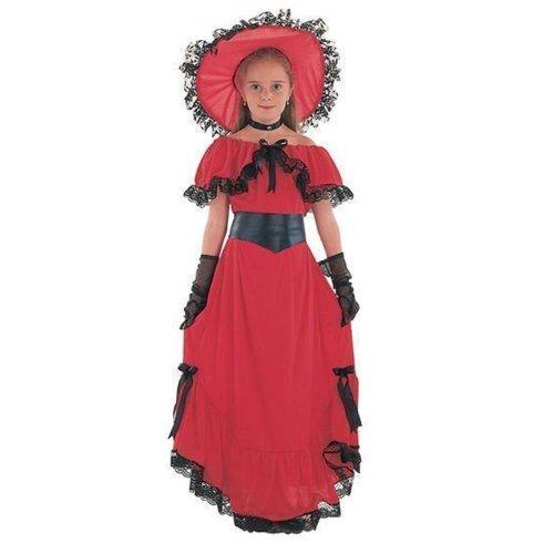 Scarlet Girl Kostüm - Victorian Girl Scarlet (Red) - Kids Costume 5 - 7 years