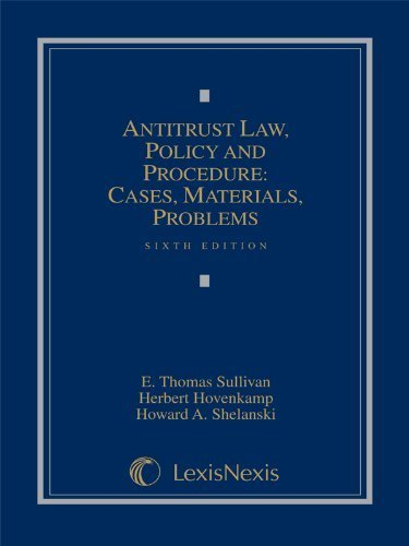 antitrust-law-policy-and-procedure-cases-materials-problems-2012-supplement-6th-sixth-edition-by-e-t