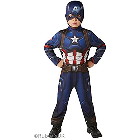 Rubie's Official Marvel Civil War Classic Captain America, Child Costume - Medium Ages 5-6