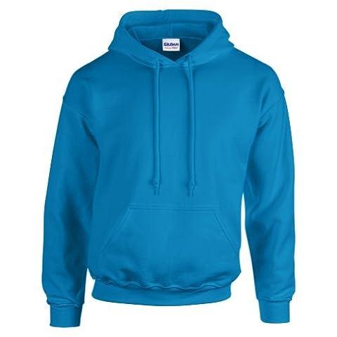 Gildan Hooded Sweatshirt Heavy Blend Plain Hoodie Pullover Hoody Antique Sapphire M