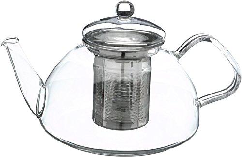 Trendglas Jena Teekanne Theo im traditionellen Design mit Edelstahlsieb, 1.2 L 2l T-pot