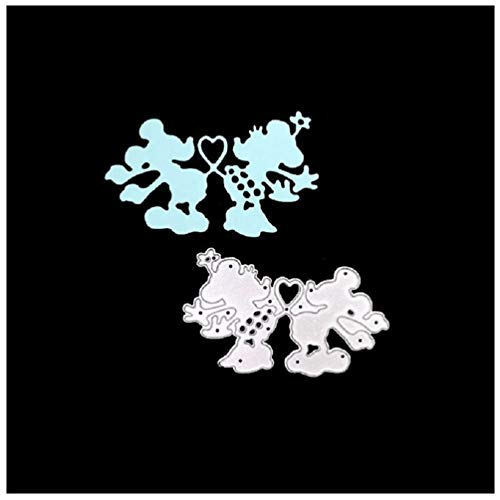 Katc Schön Stanzschablonen Metall Schneiden Schablonen für DIY Scrapbooking Album, Schneiden Schablonen Papier Karten Sammelalbum Dekor(Mickey Mouse) (Mickey-papier-stempel)