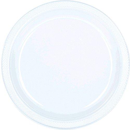 amscan Teller aus Kunststoff, 23 cm, transparent