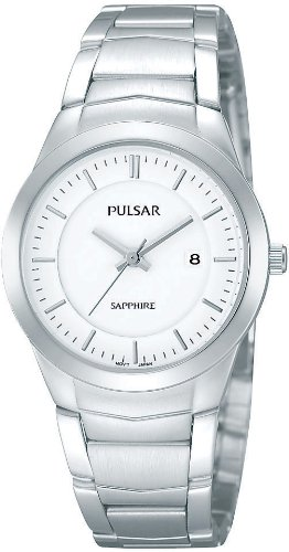 Pulsar Uhren Modern PH7255X1 - Reloj analógico de cuarzo para mujer, correa de acero inoxidable color plateado