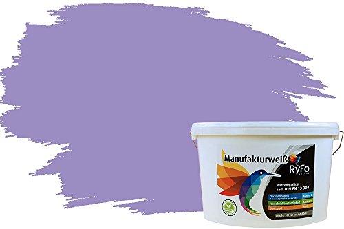 RyFo Colors Bunte Wandfarbe Manufakturweiß Orchideenpurpur 10l - weitere Violett Farbtöne und Größen erhältlich, Deckkraft Klasse 1, Nassabrieb Klasse 1