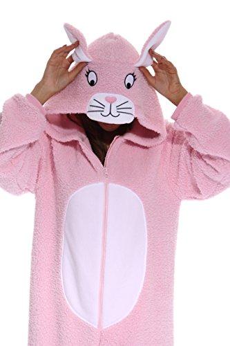 just-love-damen-strampelanzug-gr-medium-pink-bunny-sherpa