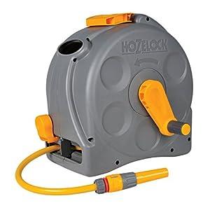 Hozelock – Carrete compacto Compact Reel con 25 m de manguera y todos los accesorios – listo para su uso