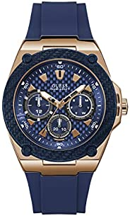 Guess Mens Quartz Watch, Chronograph Display and Silicone Strap - W1049G2