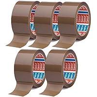 transparent oder braun zur Auswahl 12, Braun 6 Rollen Tesa Klebeband Paketklebeband Packband 66m 50mm