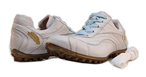 Henry & Magda Damen Golfschuhe Mehrfarbig Weiß/Gold (Damen-schuhe Ebay)