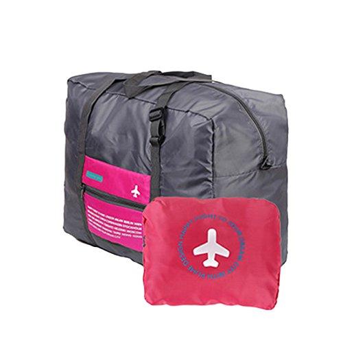 Luwu-Store Großes Fassungsvermögen Travel Kleidung Aufbewahrung Taschen Faltbare Gepäck Organizer Taschen rosarot -