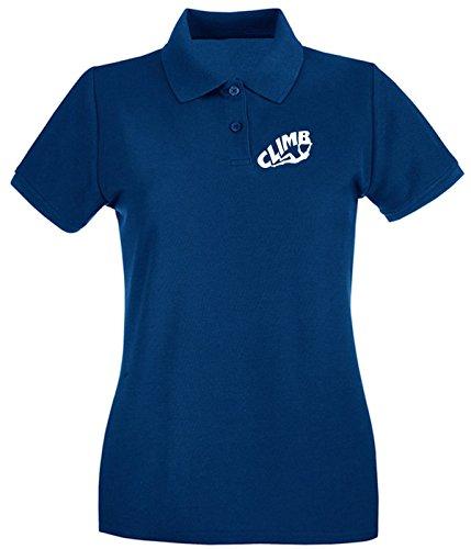 Cotton Island - Polo pour femme OLDENG00316 climb Bleu Navy