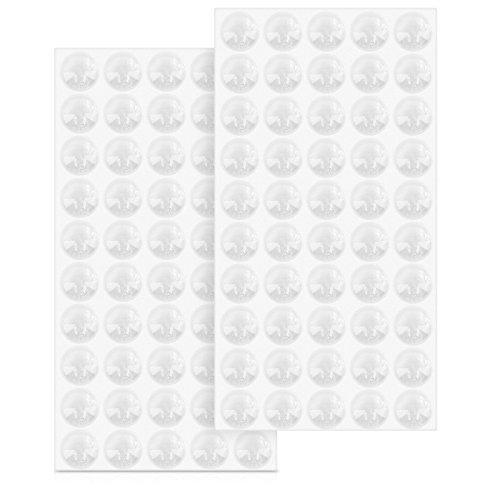 Preisvergleich Produktbild Navaris Gummipuffer transparent 100x Anschlagdämpfer - Selbstklebende Schutzpuffer Dämpfer für Möbel Ø 8mm - Elastikpuffer Anschlagpuffer rund