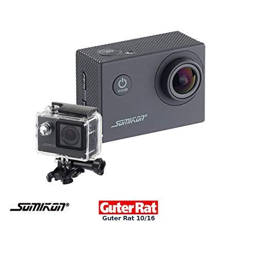 Somikon Unterwasserkamera: Einsteiger-4K-Action-Cam, WLAN Full HD (60 fps) mit Unterwassergehäuse (Motorrad Kamera)