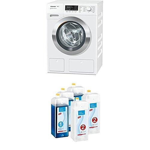 Miele WKH132WPS PWash 2.0 & TwinDos XL W1 Waschmaschine Frontlader mit PowerWash 2.0/A+++/1600 UpM/Quick Power Wash/Twin Dos + Kartuschenset UltraPhase 1 und 2 Waschmaschinenzubehör
