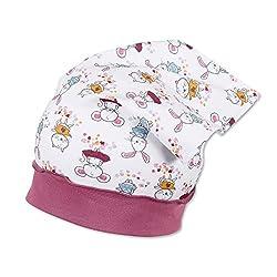 Sterntaler - Mädchen Kopftuch, weiß pink - 1451905, Größe 47
