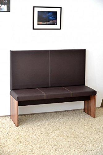 M / big Wand-Kissen Keil-form Keilwandkissen Kunstleder mit Montage-Set 115 x 50 cm