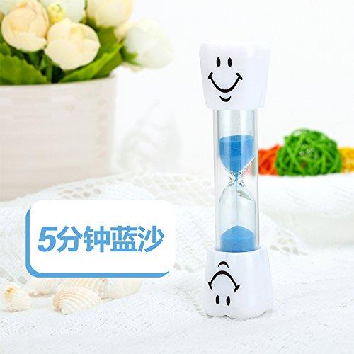 KXZZY Home decorazioni ornamenti clessidra clessidra sicurezza bambini dono ,5 minuti Mini Blu Smiley Sha