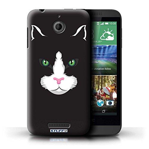 Kobalt® Imprimé Etui / Coque pour HTC Desire 510 / Gorille/Chimpanzé/Singe conception / Série Museaux Chat noir