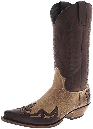 Sendra Boots 13170 Chocolate Firence Westernstiefel für Damen und Herren Braun Cowboystiefel, Groesse:47