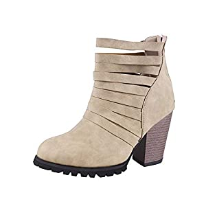 Top Shishang Herbst und Winter hohl sexy Retro Matte wies Dicke High Heel Martin Stiefel Chelsea Stiefel und Stiefeletten Stiefeletten