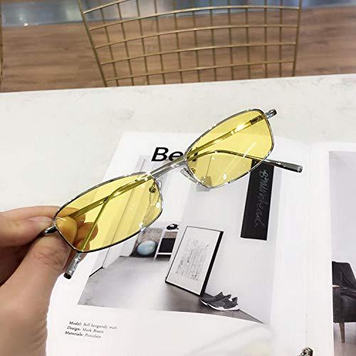 BHLTG Sonnenbrillen rechteckigen kleinen Rahmen Metall Sonne flach Licht Myopie Männer Retro Sonnenbrille weiblichen koreanischen Welle Mode Sonnenbrillen-4