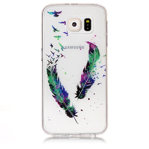 KANTAS 3X Coque Silicone Transparente pour Samsung Galaxy S6 Edge TPU Doux Back Case Caoutchouc Gel Etui Clair Ultra Mince Coquille Slim Fit Flexible Housse Silicone Souple Rubber Soft Clear TPU Bumpe 9