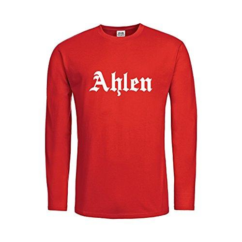 dress-puntos Kids Kinder Langarm T-Shirt Ahlen Schriftzug 20drpt15-ktls00961-60 Textil red / Motiv weiss Gr. 164