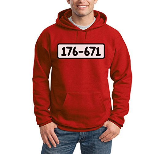 Dagobert Kostüm - Panzerknacker Shirt Kostüm Karneval Fasching Kapuzenpullover Hoodie Medium Rot