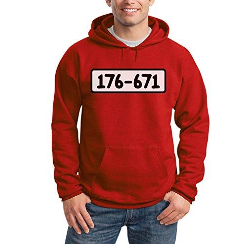 Disney Junggesellinnenabschied Kostüm - Panzerknacker Shirt Kostüm Karneval Fasching Kapuzenpullover Hoodie Medium Rot