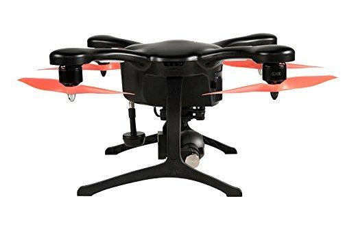EHANG GHOSTDRONE 2.0 VR (android)FPV RC Drone Profi Quaddrocopter Drohne mit Smartphone APP Steuerung und Kamera Live Video Übertragung zur VR Brille, Professionelle Kamera Drohne inkl. 4K HD Kugel Kamera, hochpräzisem 3-Achsen Gimbal und VR Brille, 25 Min Flugdauer, Bis zu 1000m Sendebereich, schwarz/orange - 2