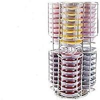 Tassimo Bosch Disque-T 48 Kapselständer mit 2 Ebenen, Chrom, befüllbar, Turm (rutschfeste Basis 360)