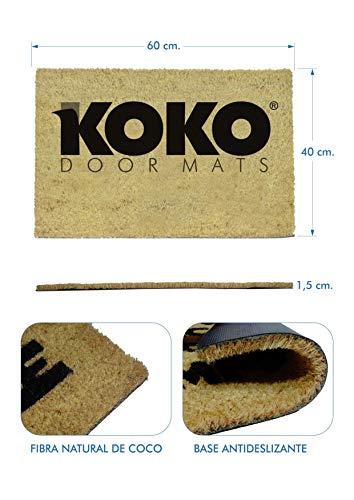 41siSTClOqL - koko doormats Felpudo de Star Wars para Entrada de Casa Original y Divertido/Fibra Natural de Coco con Base de PVC, 40x60 cm (A-Welcome to my Empire)