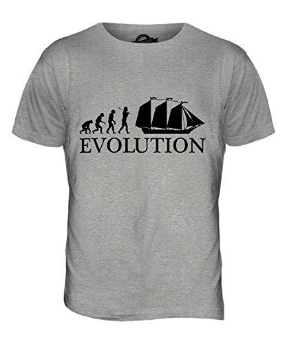 CandyMix Schoner Evolution Des Menschen Herren T Shirt Grau Meliert