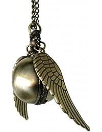 Collar con reloj, diseño de Snitch Dorada, de Harry Potter, estilo Steampunk